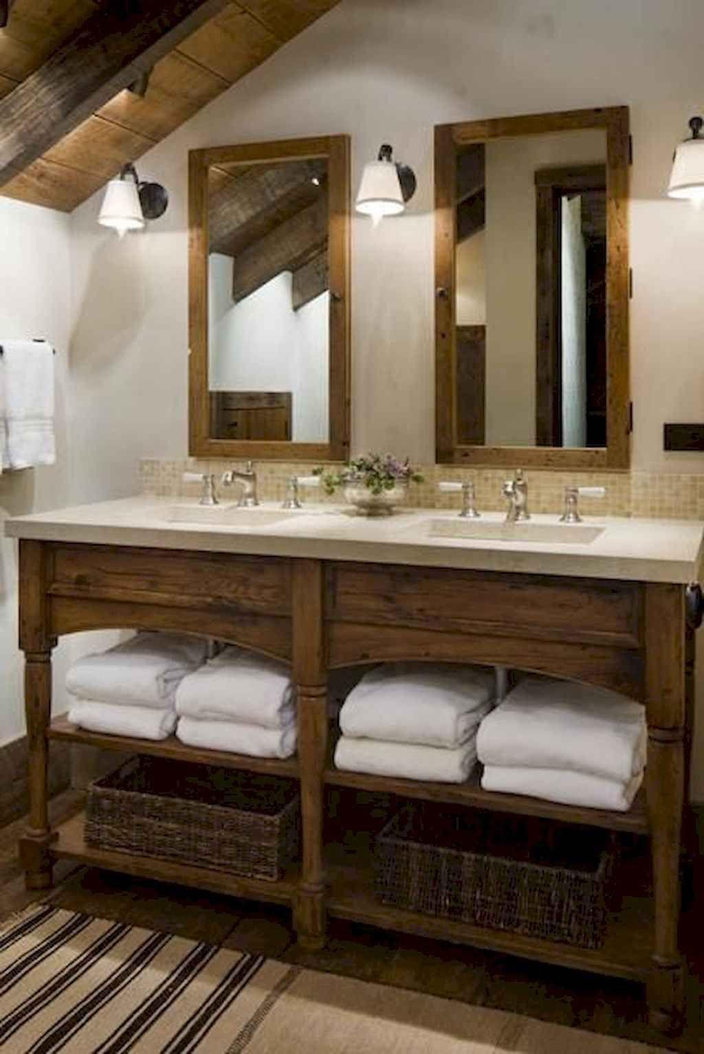 105 idées de décoration de salle de bains de ferme moderne impressionnant