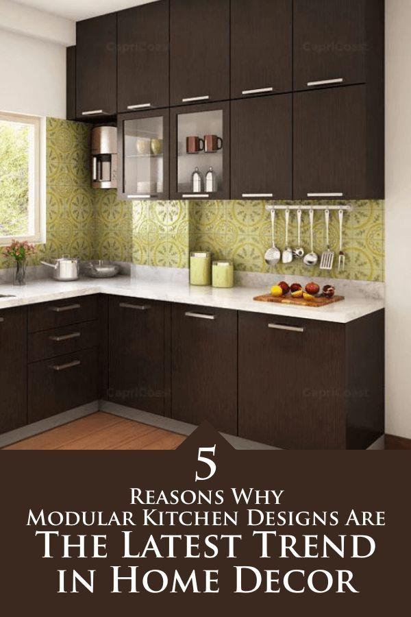 5 raisons pour lesquelles les conceptions de cuisine modulaire sont la dernière tendance en matière de décoration intérieure #Kitche …