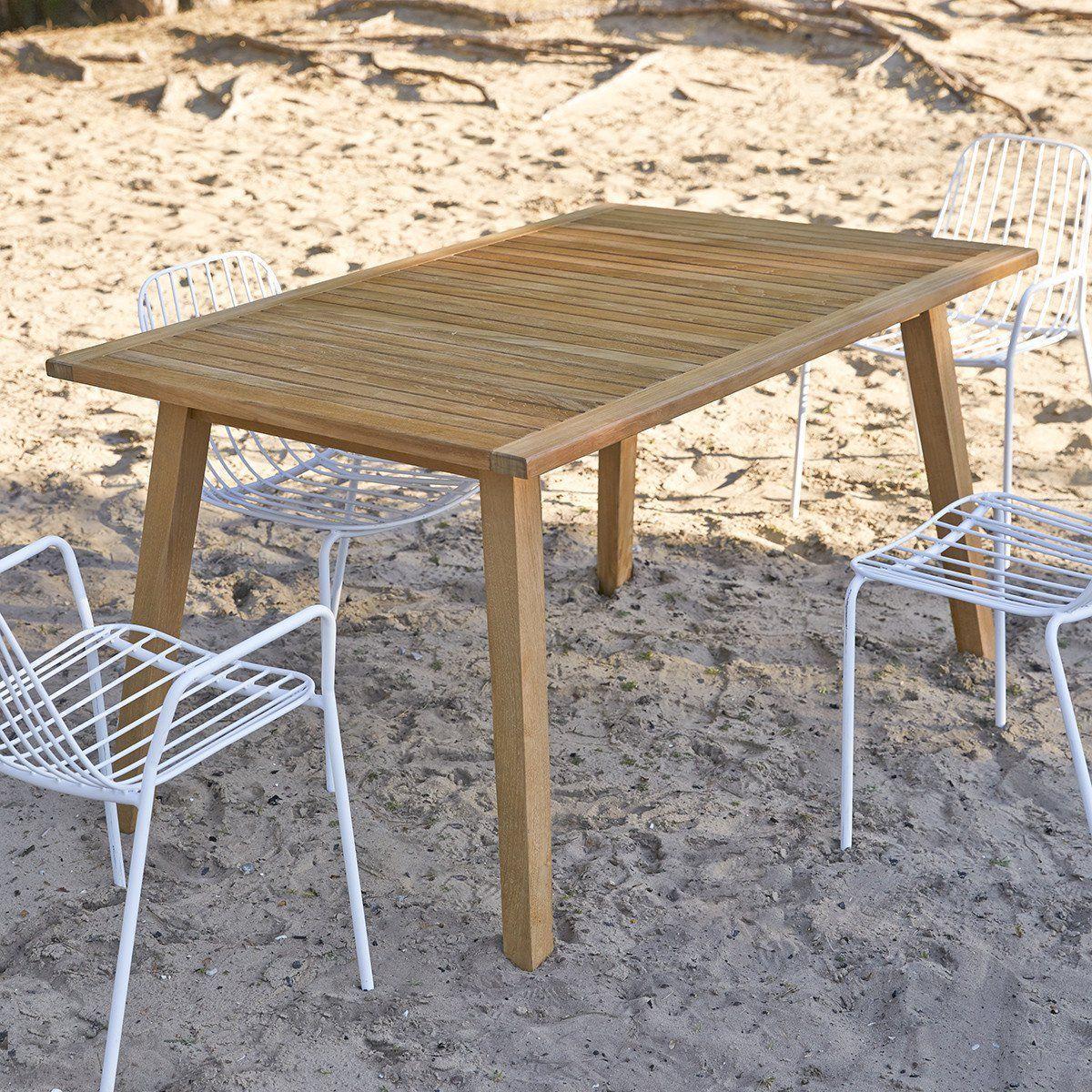 Table De Jardin En Bois De Teck 140 Pamoa – Taille : Taille Unique #ferientisch …