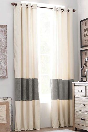 Des rideaux rayés: idée déco à faire soi même ou pas!