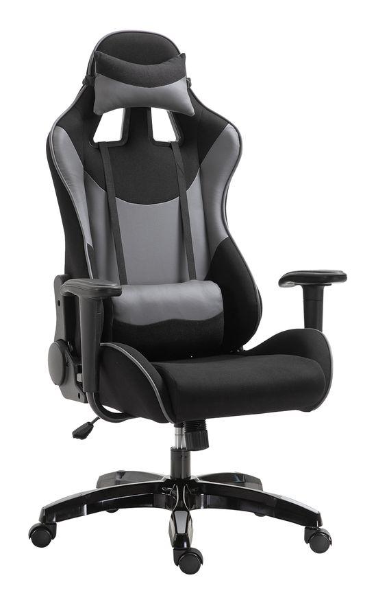 Fauteuil de bureau manager grand confort style baquet racing gamer pivotant inclinable avec coussins et repose-pieds simili cuir noir rouge