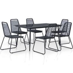 Ensemble de jardin en poly-rotin Crète, ensemble de salon '4 chaises marron, coussin crème MendlerMendl