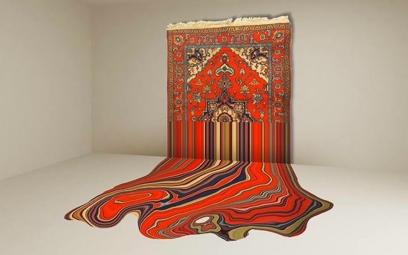 Tapis traditionnels Azerba�djan Oeuvres Hypnotiques decodesign / D�coration