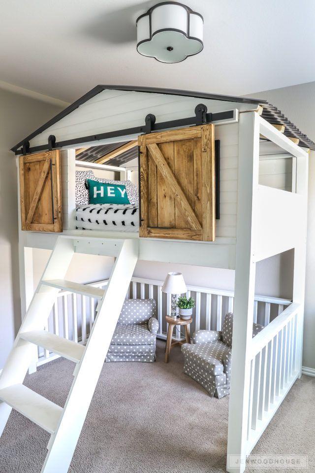 Idées de design de chambre à coucher avec porte de grange – Décorations d'intérieur
