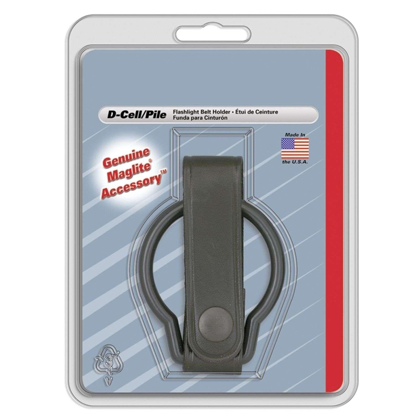 Porte lampe de poche cuir avec anneau pour D-Cell de INC., INC.