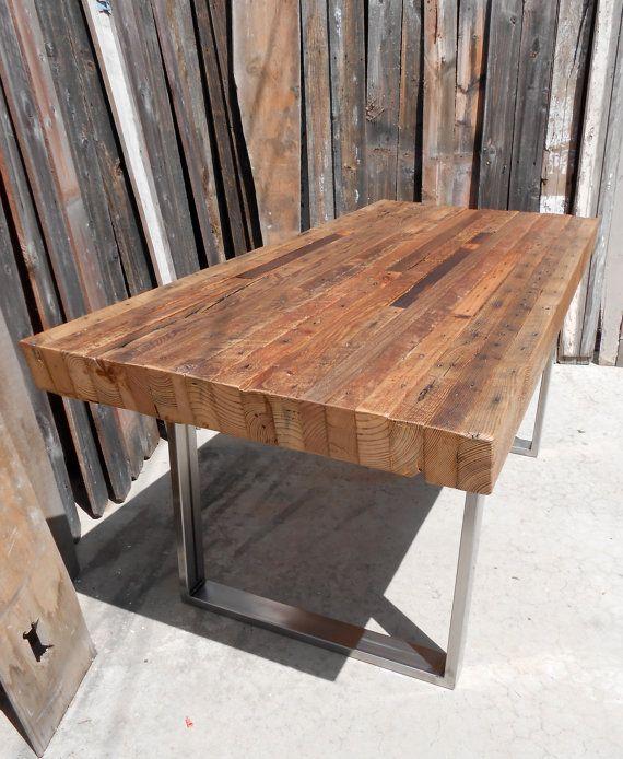 Bois / métal / métal / acier / salle à manger / patio / table de pique-nique / restaurant / qualité commerciale