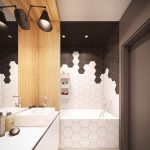 Le carrelage de salle de bain hexagonal est tendance