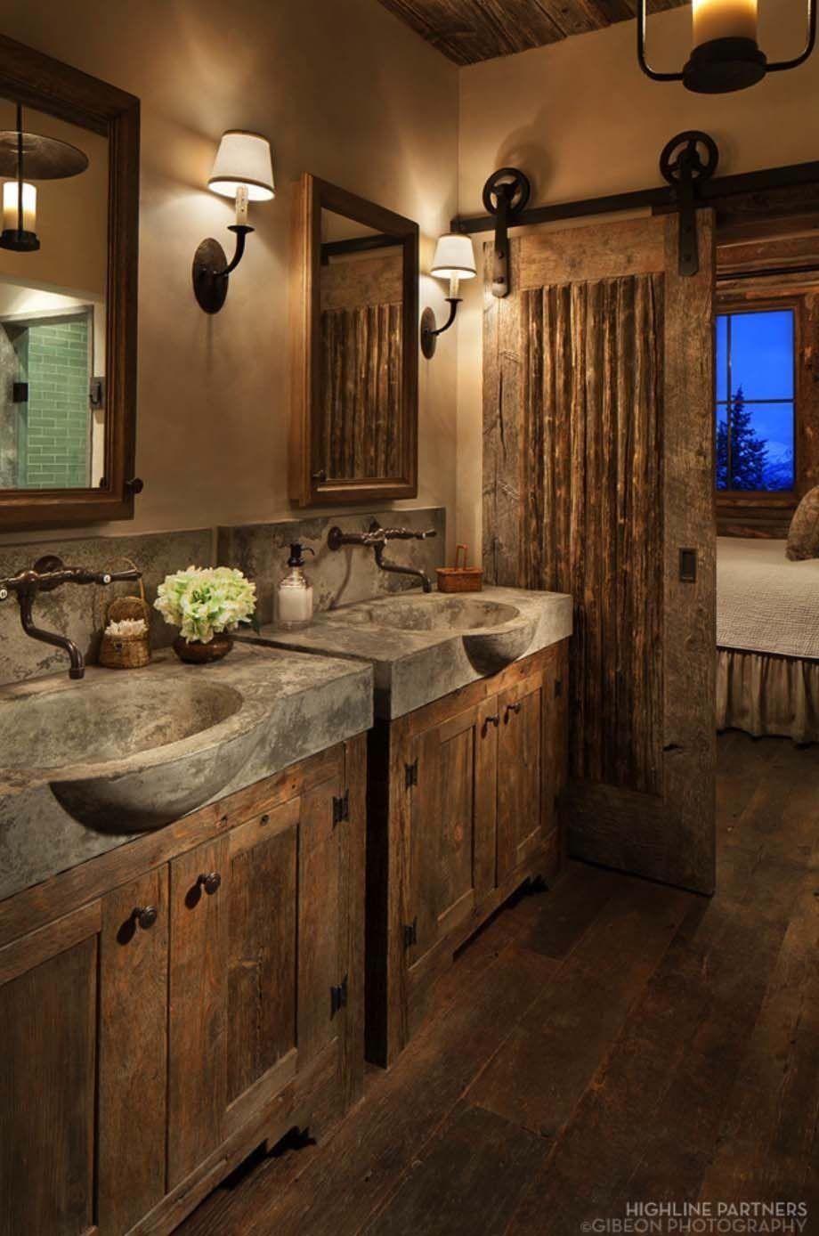 Essayez 31 belles idées de décoration de salle de bain rustique pour la maison