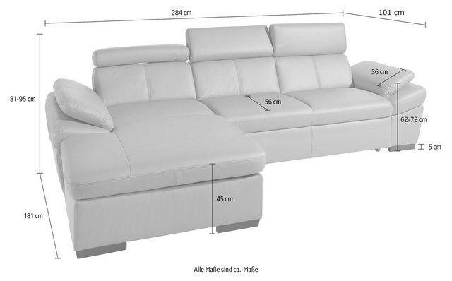 Canapé d'angle, avec fonction de lit en option