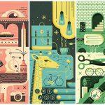 En France, Studio Büro nous a contactés pour illustrer trois des œuvres de Petit Bain ...