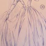 PDF Lutterloh Golden Rule: dessin du patron de couture Patron de couture de Haslam, 1930's, page 278, robe de soirée pour femme
