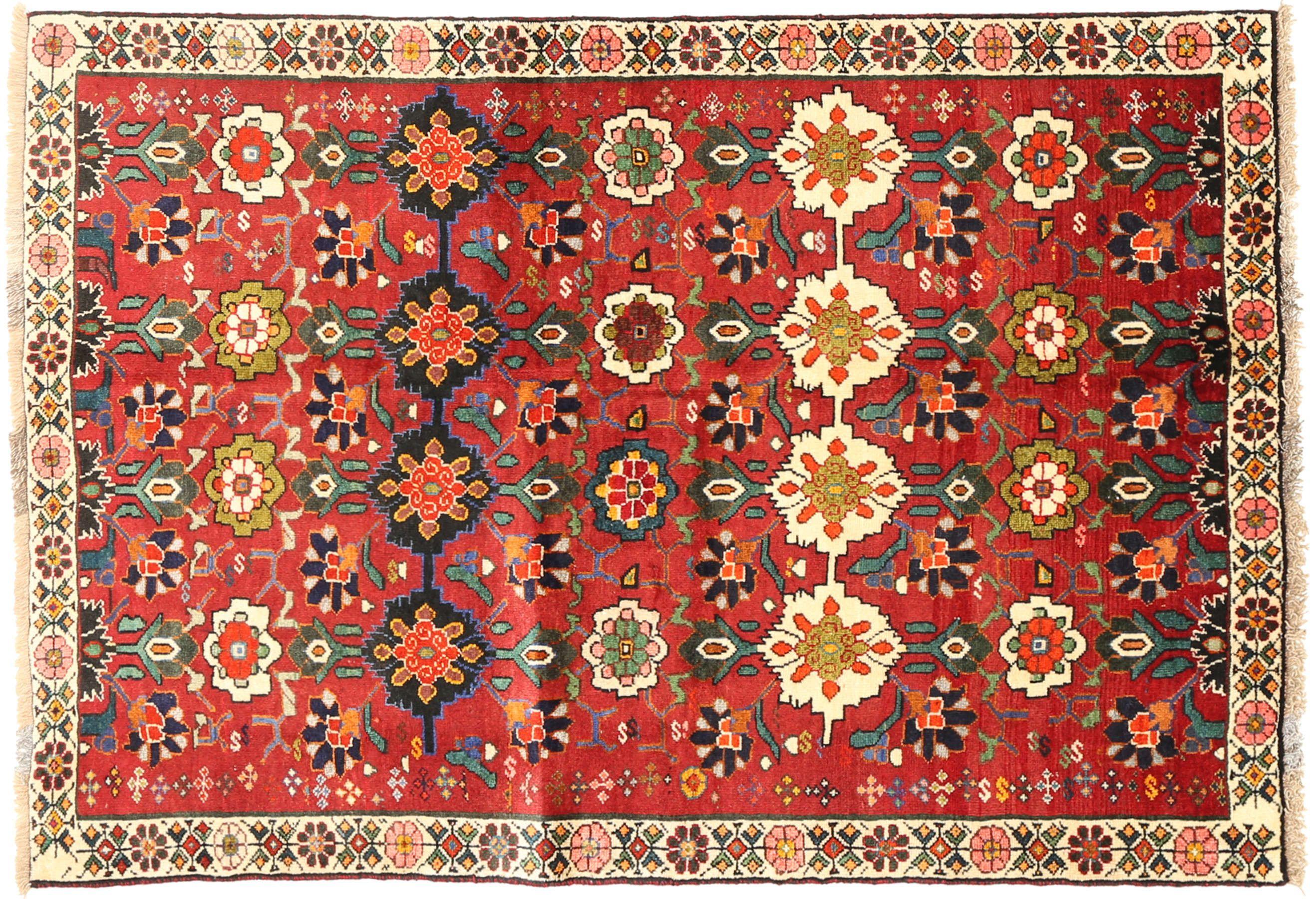 Ces tapis sont fabriqués par des nomades des plateaux du sud-ouest de l'Iran….