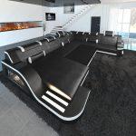 Sofa sectionnel design Detroit LED XL
