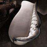 Chaise longue rembourrée moderne avec bouton italien