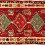 Ces tapis sont fabriqués par des nomades des plateaux du sud-ouest de l'Iran....