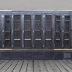 Banc d'entrée Vintage pour vestiaires, bibliothèques et vestiaires