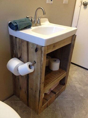 20+ idées de décoration de salle de bain en bois sur palette Genius que vous devez avoir – Living Design