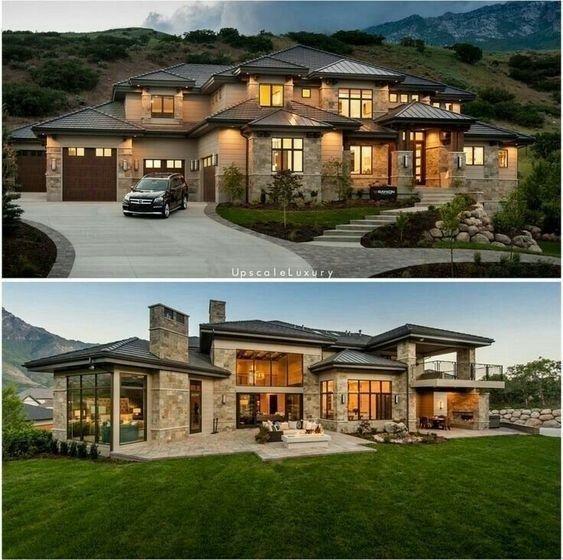 20 idées de design extérieur les plus populaires de la maison de rêve moderne 17 | maanitech.com #arc …, #arc #D …