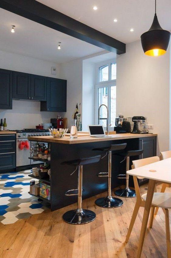 23 petites cuisines avec ilot central : idées d'aménagement et photos