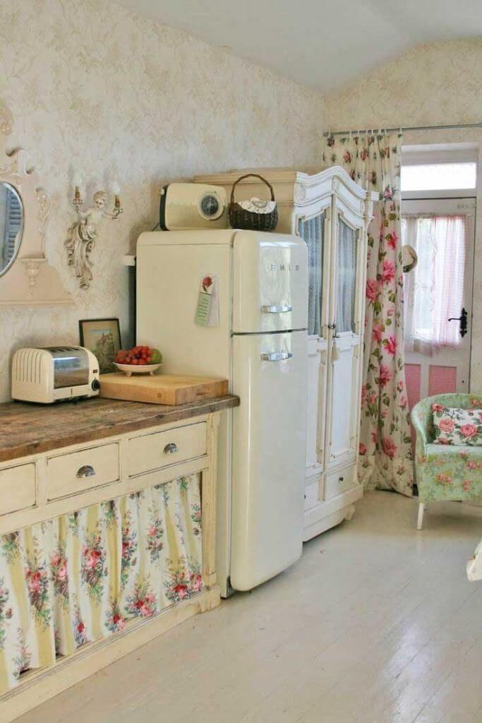 24 idées uniques de rideaux d'armoires de cuisine pour un style de décoration de maison charmant