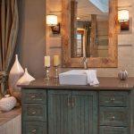 25+ superbes idées de vanité de salle de bains en bois patiné de style ferme - design résidentiel