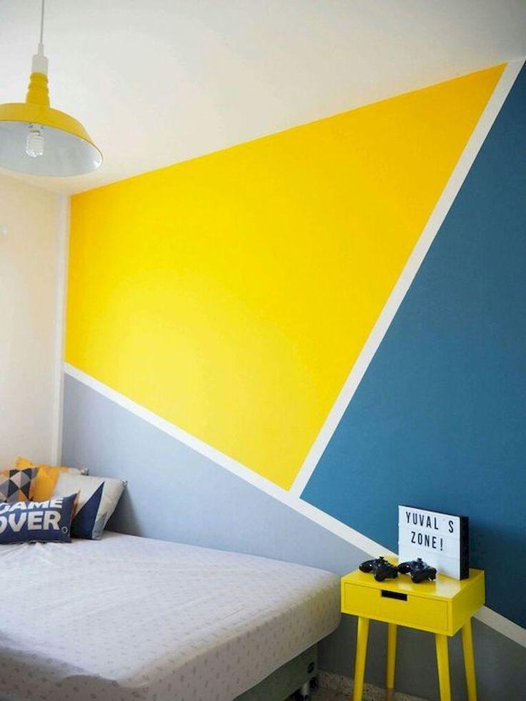 33 meilleures idées de conception de peinture murale géométrique