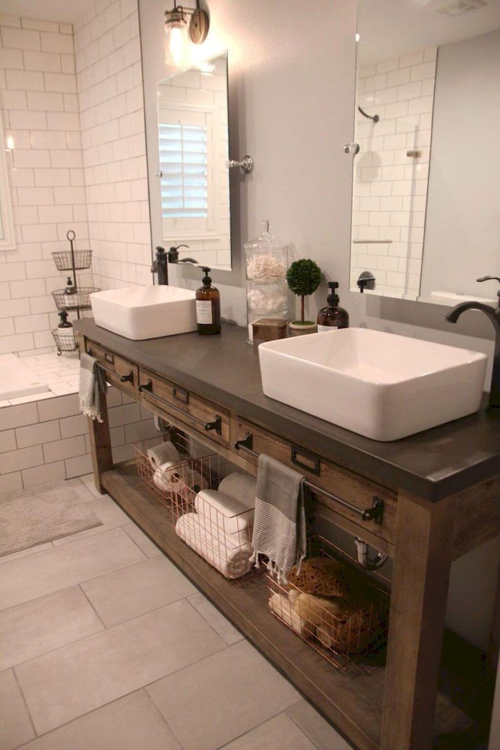 35 idées de vanités de salle de bains rustiques pour stimuler votre prochaine rénovation