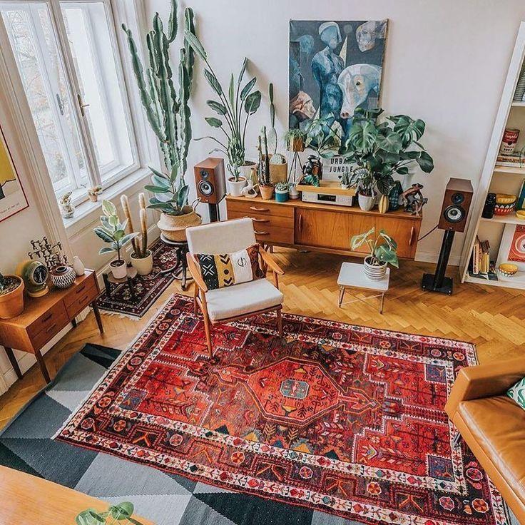 36 idées de décoration de salon bohème uniques