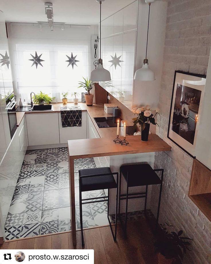 40 meilleures idées d'aménagement intérieur de cuisine 2019 – Page 4 de 40
