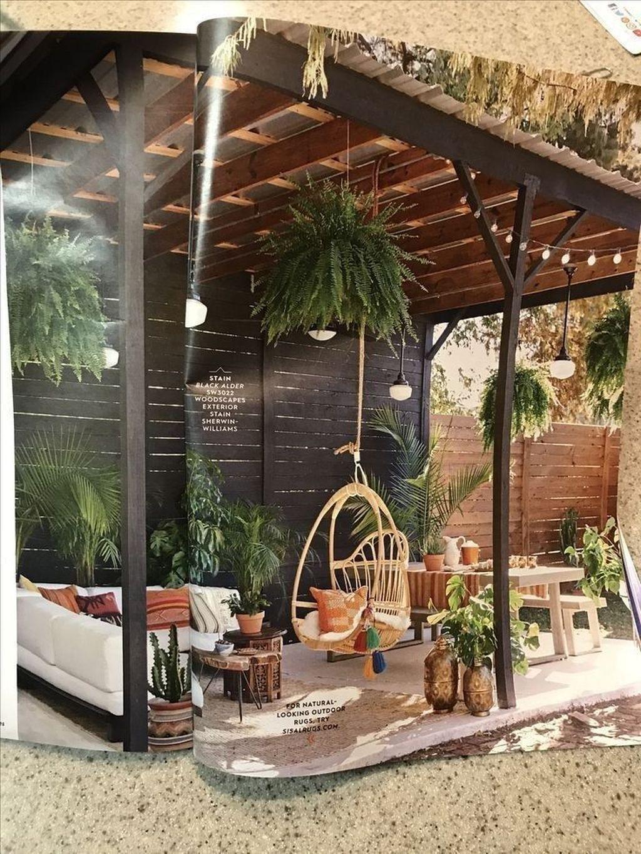 40+ petites idées de design de patio rustiques sur un budget