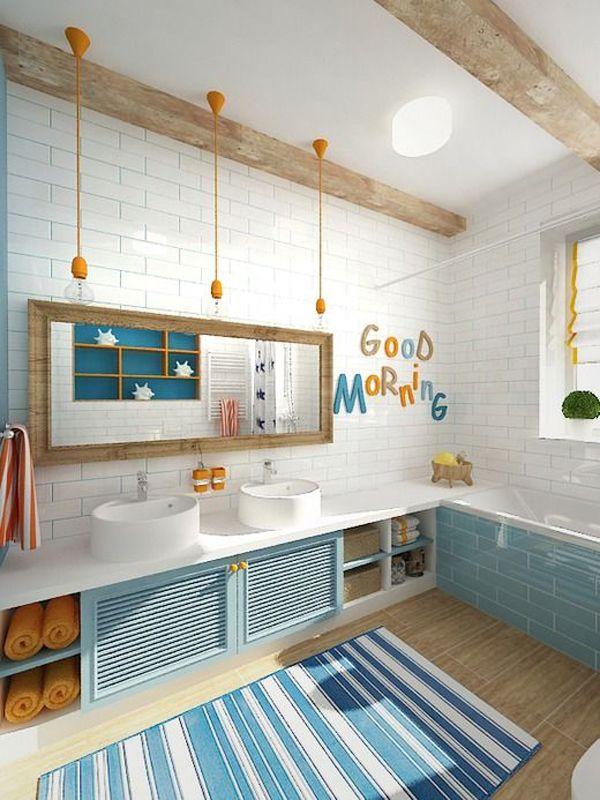 42 designs de salle de bains pour enfants qui les rendent heureux