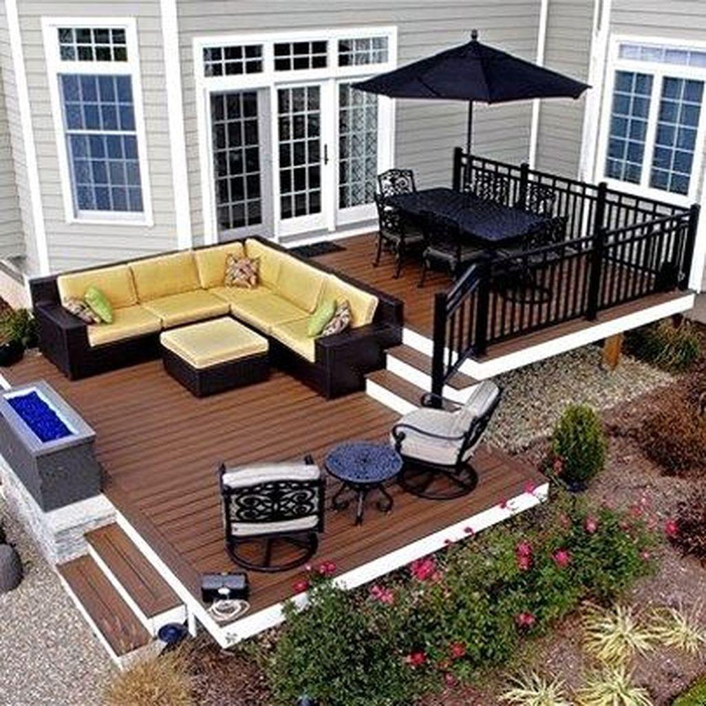 43 idées de décoration de terrasse de patio confortable