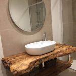 44 Les meilleures idées de petite salle de bains rustique avec un décor en bois