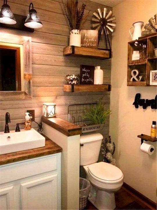 50+ Les idées de décoration les plus populaires pour les petites salles de bains