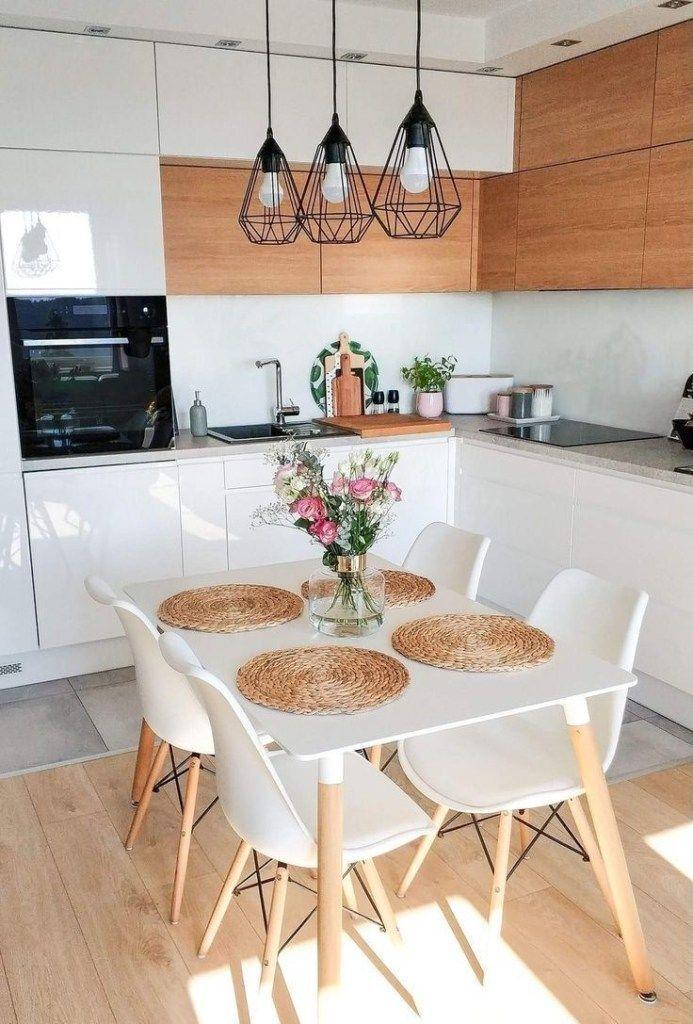 50 incroyables petites idées de décoration de cuisine d'appartement #appartmentdecorating #Kitch …