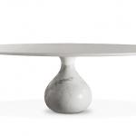 AQUA Table de repas ovale - Carrare (TABLES DE REPAS) | Roche Bobois
