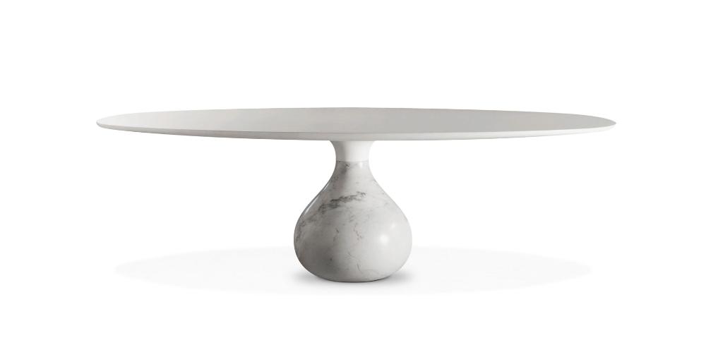 AQUA Table de repas ovale – Carrare (TABLES DE REPAS)   Roche Bobois