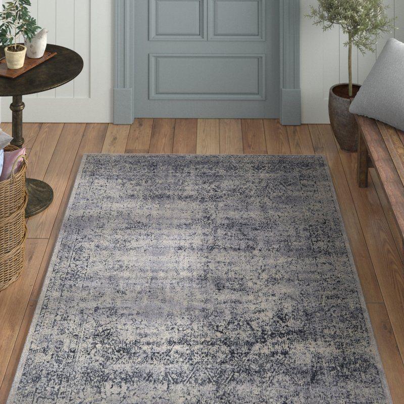 Abbeville éclectique bleu foncé tapis