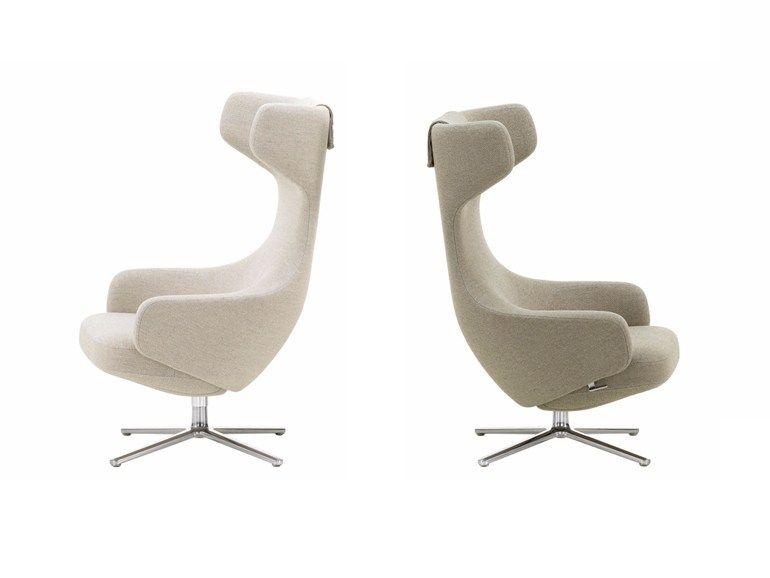 Acheter en ligne Grand repos By vitra, fauteuil à oreilles pivotant inclinable …