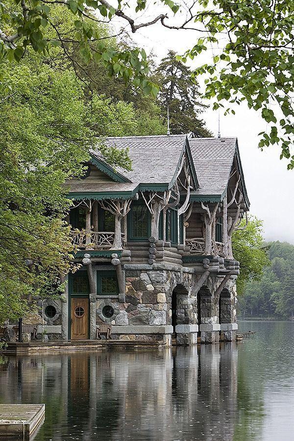 Adirondack Cabin avec Boathouse près de Lake Placid, NY #adirondack #bo …