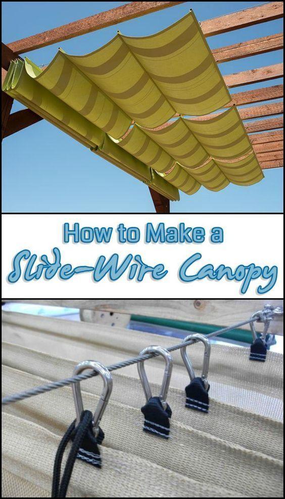Ajoutez de l'ombre à votre espace extérieur en créant un auvent en fil métallique coulissant