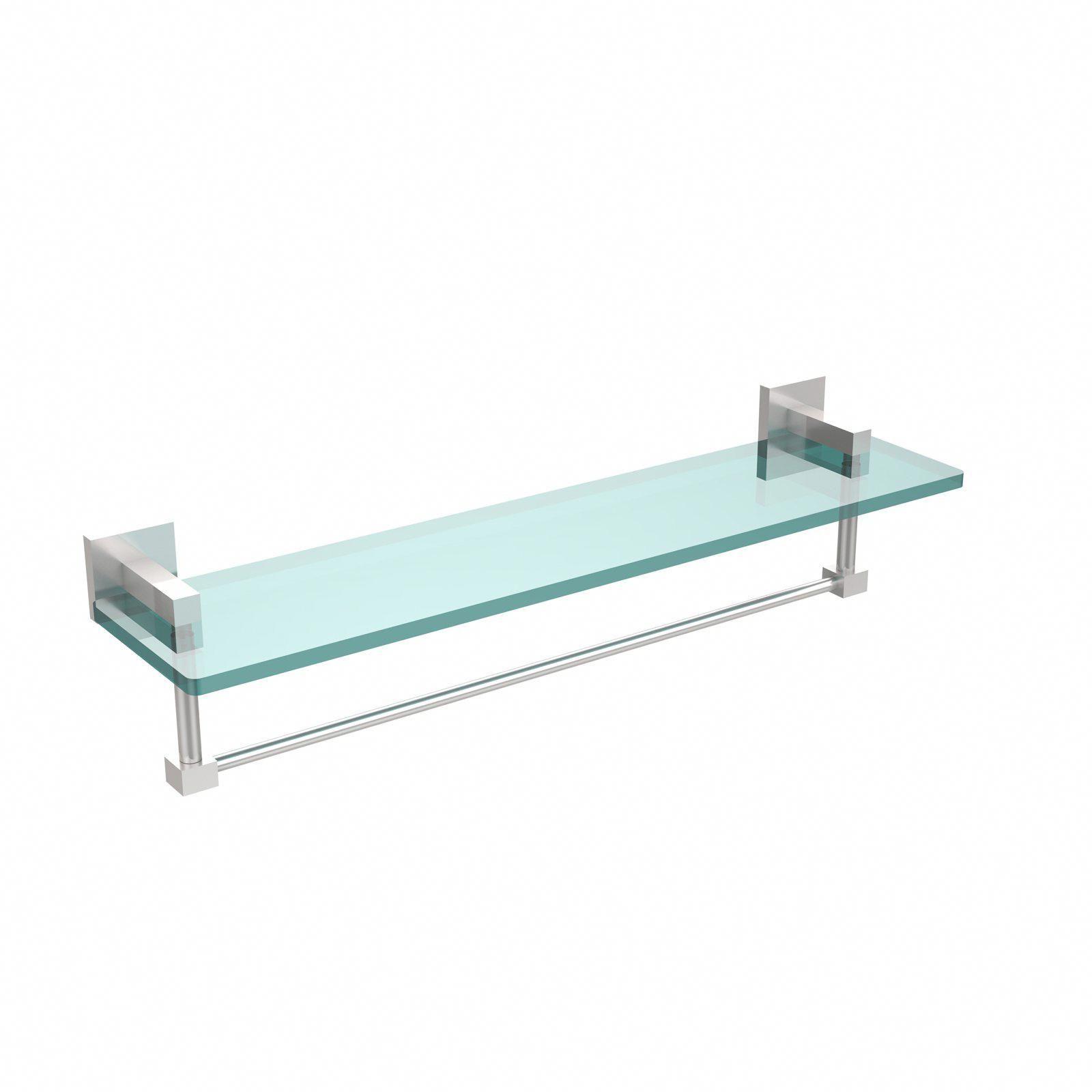 Allied Brass – Montero, 22 po. En verre avec étagère à serviettes intégrée #bathro …