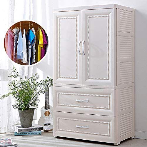 Amazon.com: Armoire de chambre à coucher pour garde-robe portable ZYJ, armoire de rangement en plastique multicouche pour penderie pour enfants Style suspendu Garde-robe simple, beige: Cuisine et salle à manger