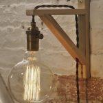 Applique en bois - Applique murale enfichable - Applique - Lampe en laiton antique - Éclairage rustique - Décor de ferme - Lampes suspendues