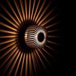 "Applique murale design moderne ""Sun"" applique en aluminium 20 watts 5215 | eBay"