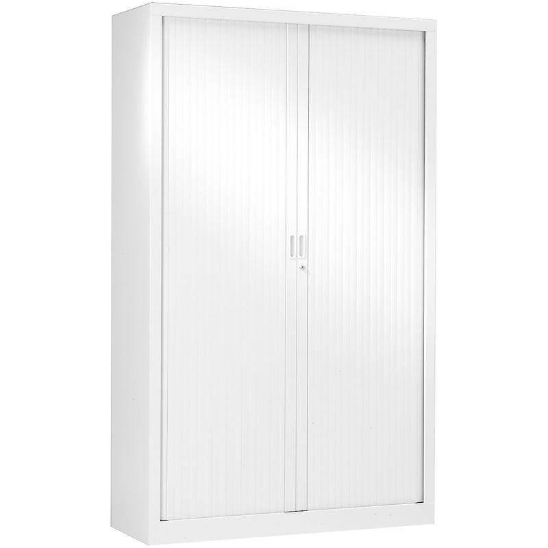 Armoire à rideaux blanc 198 x 120 x 43 cm | Pierre Henry