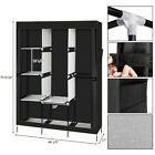 """Armoire noire 4 couches 8 Grille Armoire Portable Portoir Etagère 71 """"#Fur ... - #Armoi ..."""