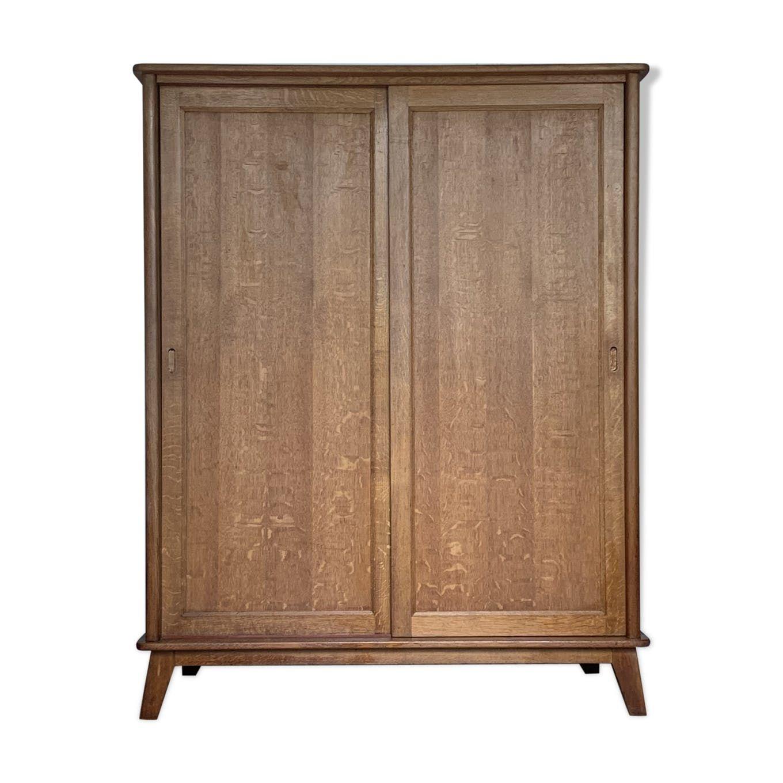 Armoire penderie vintage portes coulissantes – bois (Matériau) – bois (Couleur)…