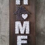 Art de la chaîne de la petite maison, la maison est où le coeur est, décor à la maison, signe de la maison, décor personnalisé
