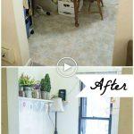 Avant et après: Bouts de bureau de stockage de bricolage
